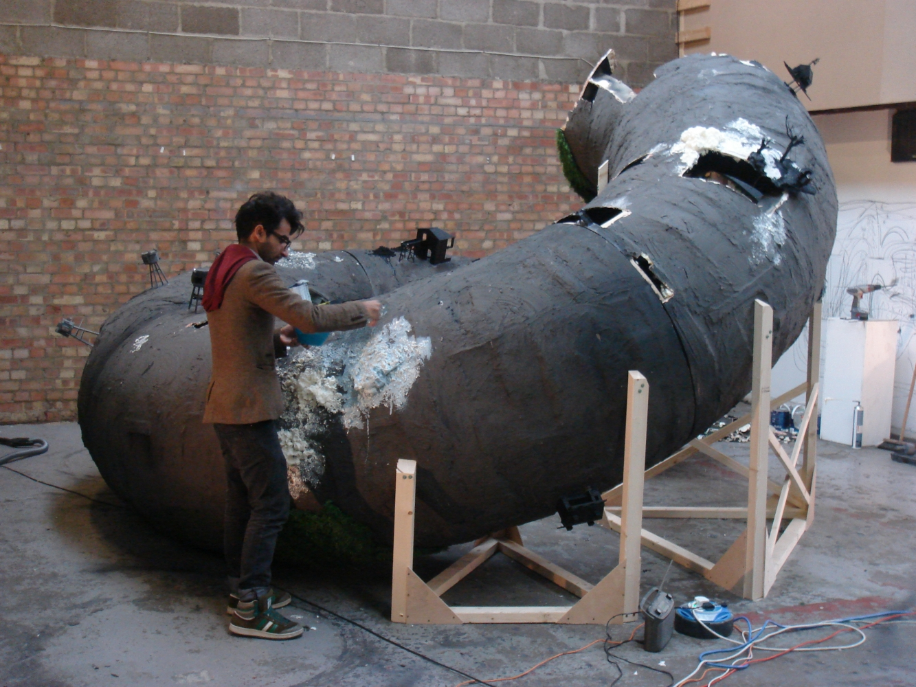 Space Hire Saad Qureshi working on a large-scale commission for Gazelli Art House, London