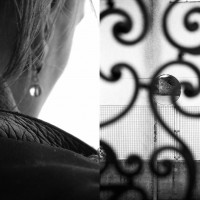 """'Earring/Mirror' C-type prints (diptych) on photographic paper, 12""""x18"""" (2018)"""