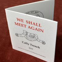 We Shall Meet Again, artist's book (2019) by Cally Trench