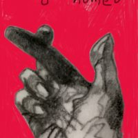Text me when you get home ... drawing with red background digitally added